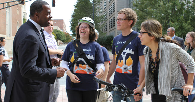 Atlanta Mayor with GT Students